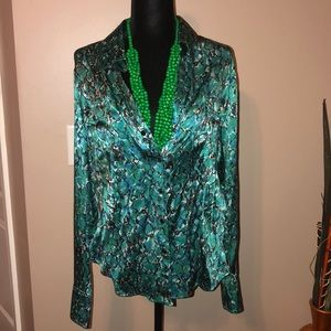 Green Snakeskin Blouse